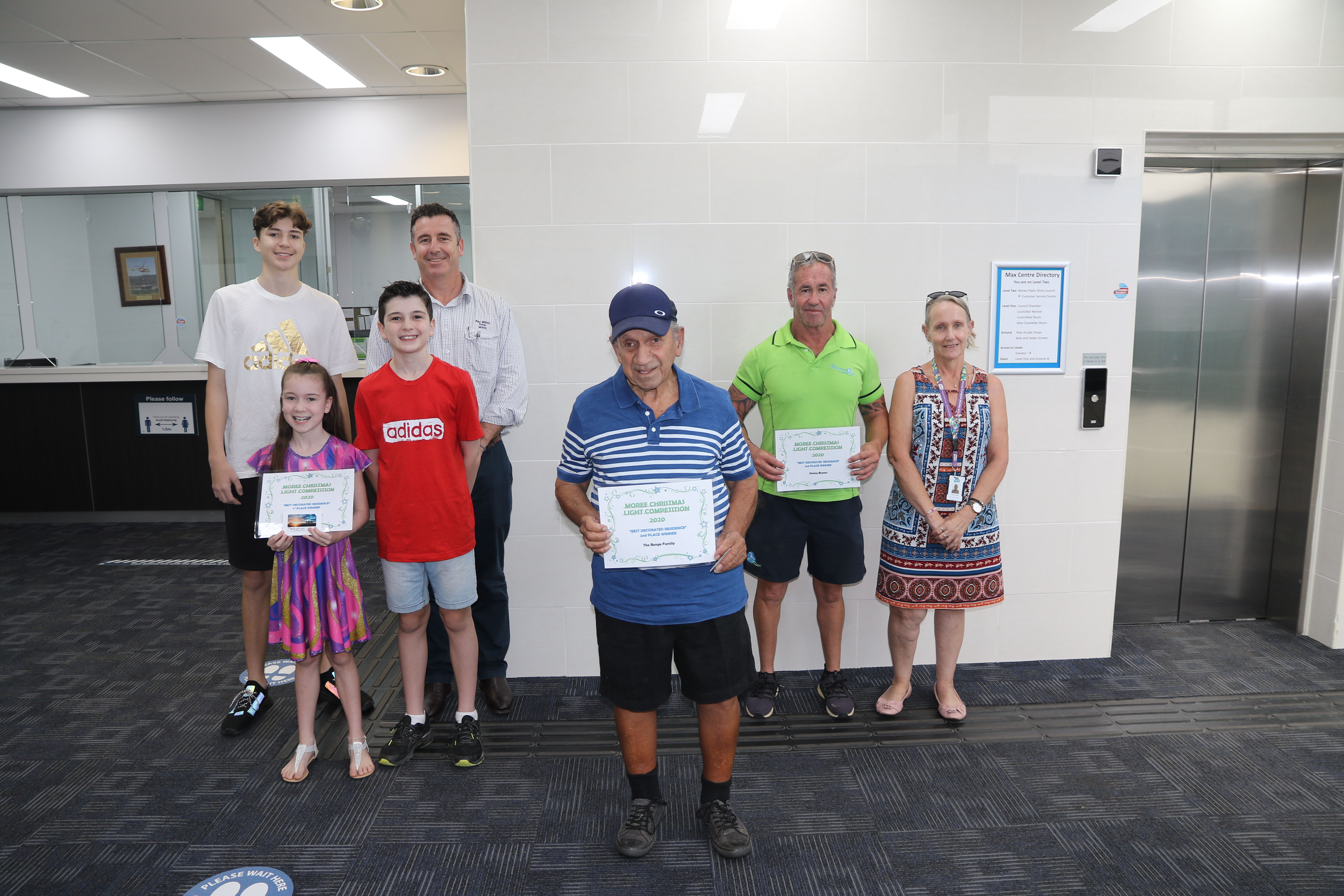 Winners of the 2020 Moree Plains Shire Christmas Light Competition.