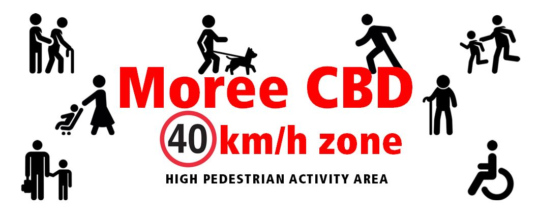 40km zone high pedestrian area Moree