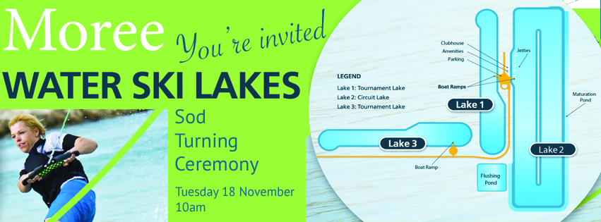 SOD Turning Invite to the Moree Water Ski Lakes