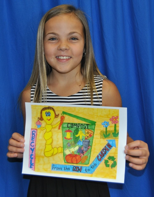 Moree Christian School student Ludeny Wiid artwork has been chosen to feature proudly on the side of one of Council's waste trucks.