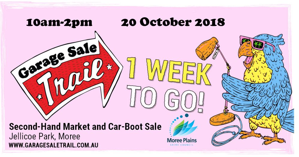 One week to go until the Garage Sale Trail