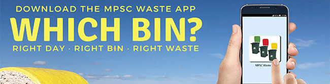 Download the MPSC Waste App from the App store or Google Play