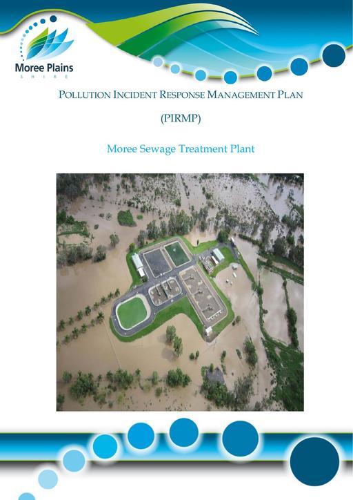 PIRMP Pollution Incident Response Management Plan Moree Sewage Treatment Plant