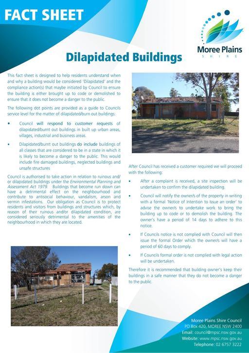 Fact Sheet   Dilapidated Buildings