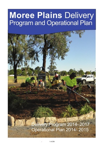 Delivery Program and Operational Plan 2014 2015
