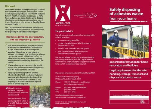 Asbestos Leaflet x 2