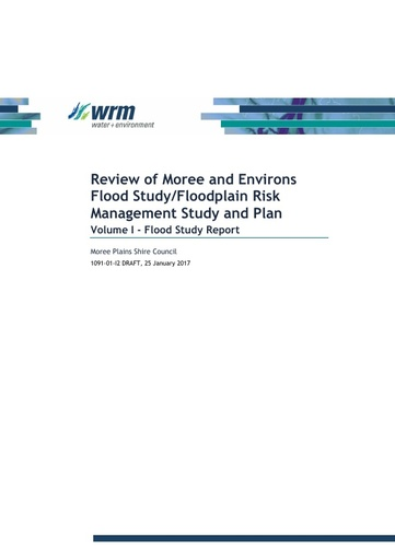 Moree and Environs Flood Study Floodplain Risk Management Study and Plan Volume 1
