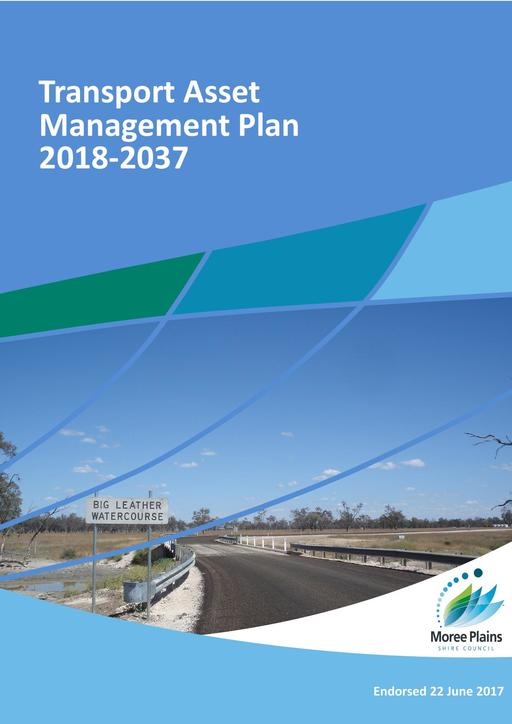 Endorsed Transport Asset Management Plan   Scenario One Version One   2018 to 2037