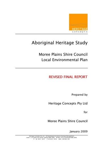 Aborginal Heritage Study