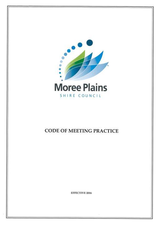 Code of Meeting Practice