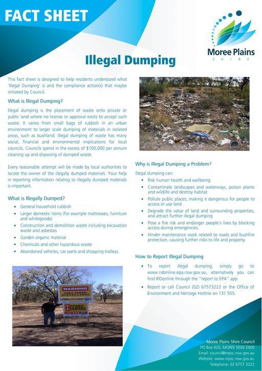 Fact Sheet   Illegal Dumping