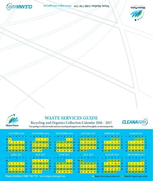 Waste Services Calendar