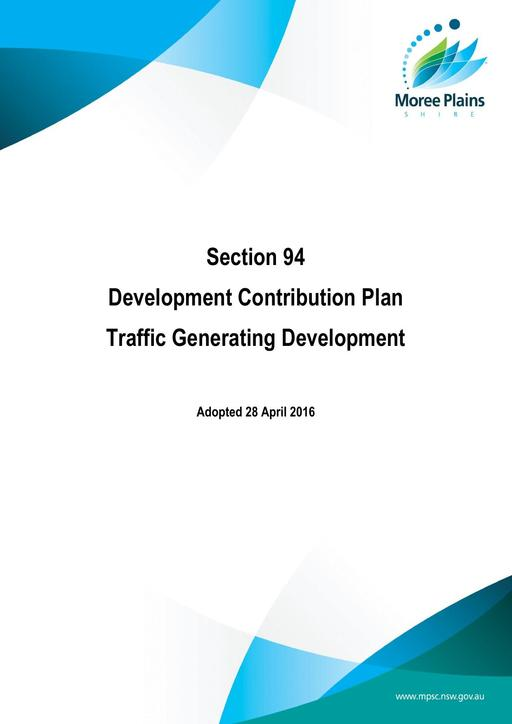 Section 94 plan MPSC traffic generating development adopted 28 April 2016