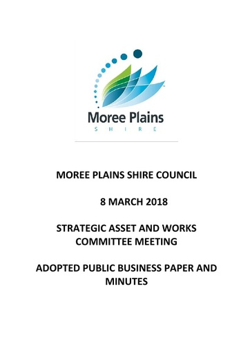 Adopted Public Business Paper and Minutes Strategic Asset and Works Committee Meeting 8 March 2018