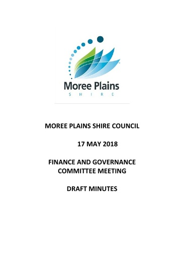 Draft Minutes 17 May 2018 Finance and Governance Committee Meeting