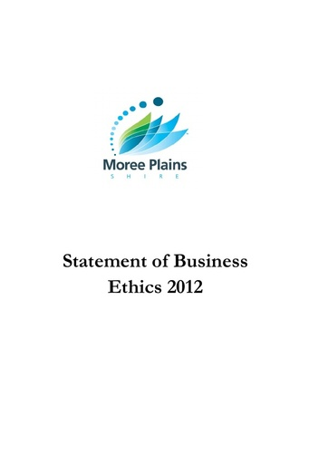 Statement of Business Ethics