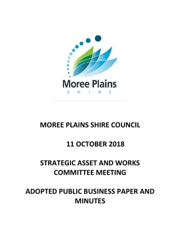 11 October 2018 Adopted Public Business Paper and Minutes Strategic Asset and Works Comm