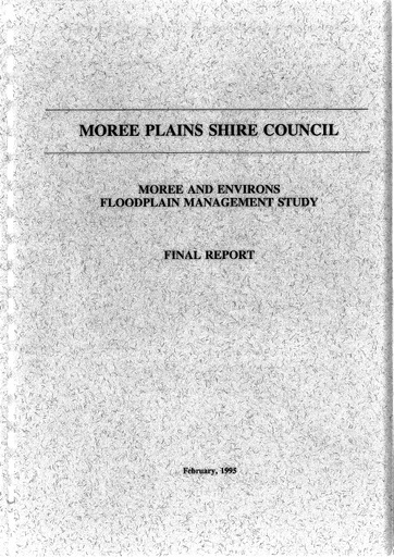 Moree Flood Study Final