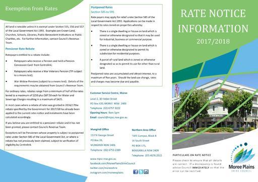 Rates Notice 2017 18