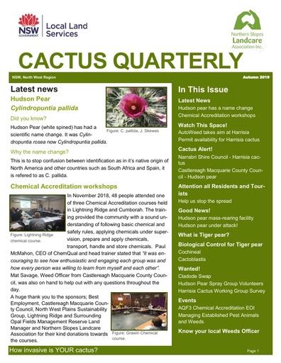 Cactus Quarterly Autumn 2019