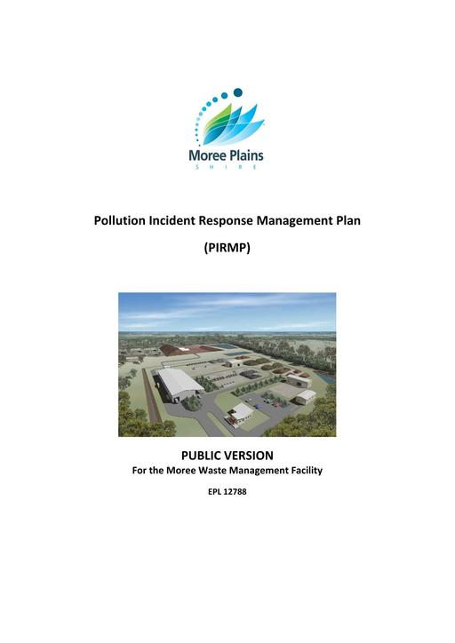 PIRMP pollution incident report management plan Moree Waste Management Facilty June 2014