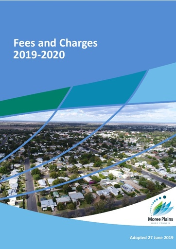 Current Fees and Charges