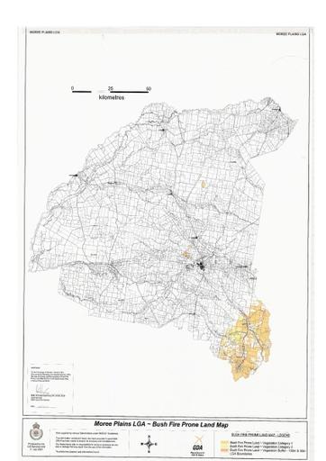 Bushfire Fire Prone Lane Map